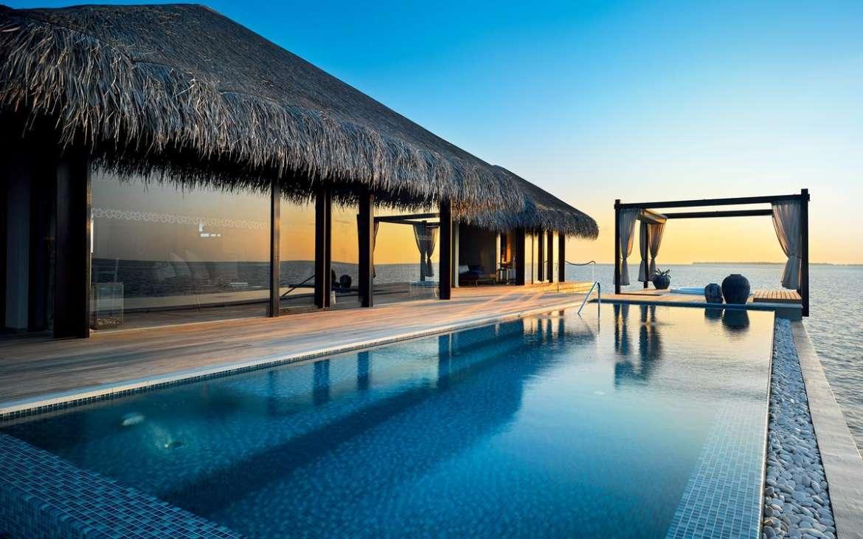 OCEAN POOL HOUSE TWO BEDROOM VELAA PRIVATE ISLAND MALDIVES