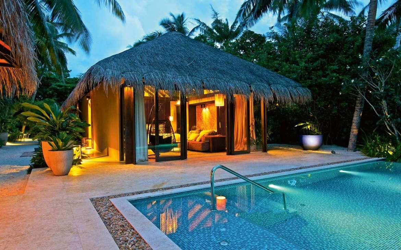 Beach Pool Villa Velaa Private Island Maldives